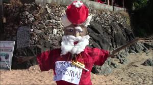 Burning Santa